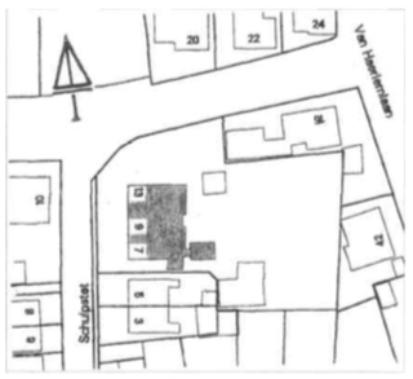 De ligging aan het Schulpstet.