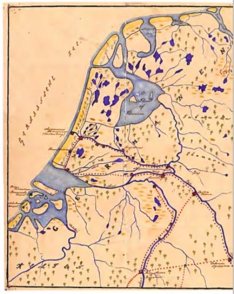 Thijs Kramer was ook een verdienstelijk tekenaar. Bijgaande kaart van Nederland in de Romeinse tijd is hier een voorbeeld van.