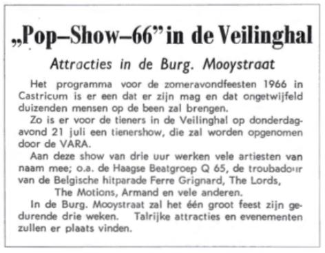 Attracties in de Burgemeester Mooijstraat.