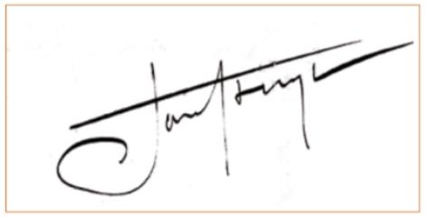 De krachtige handtekening van Jan Stuyt onder het contract voor de bouw van het raadhuis.