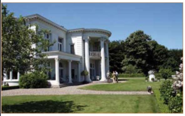 Het landhuis in Maarn dat in 1915 werd ontworpen.