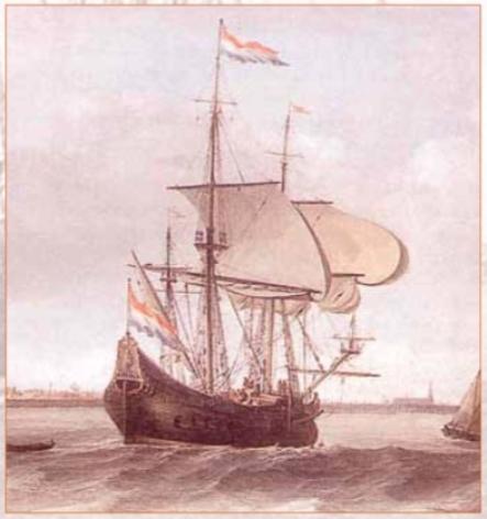 Een fluitschip is een snelle zeiler en kan veel vracht vervoeren.
