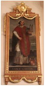 De afbeelding van de heilige Castor.