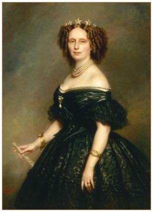 Prinses Sophie van Würtemberg in 1863; zij was na haar huwelijk met Koning Willem III, koningin der Nederlanden (1849-1877).