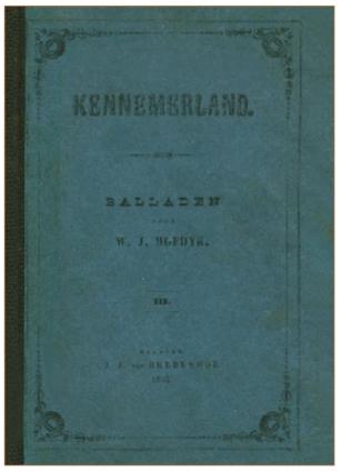 De titelpagina van deel 3 van 'Kennemerland, Balladen', waarin de drie Castricumse balladen zijn opgenomen.