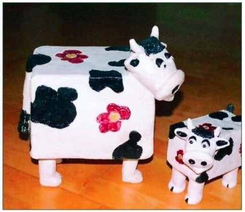Keramiek: koeien.
