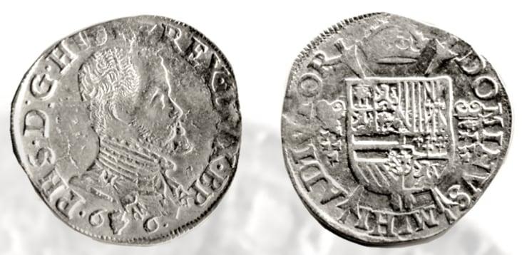 Een vijfde Philipsdaalder, 1566, Brabant.