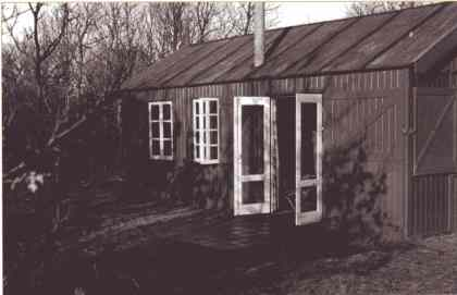 Huisje van Sandberg ten westen van Kijk-Uit.