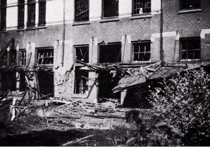 Afbeelding I Paviljoen Duinenbosch na de bomexplosie