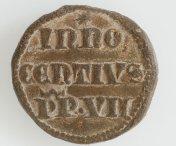 Een loden zegel van paus Innocentius VII