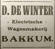 Advertentie in het Weekblad voor Castricum (augustus 1921)