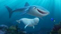 Haai Destiny en beluga walvis Bailey. ©2016 Disney•Pixar. All Rights Reserved.
