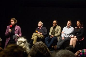 Van links naar recht: Mascha ten Bruggencate, Herbert van Hasselt, Romeo Hoost, Dick Eberhardt en Machteld Ligtvoet.