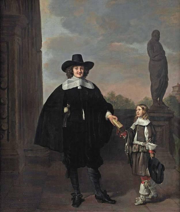 Diederick van Veldhuysen op een schilderij met zijn vader.