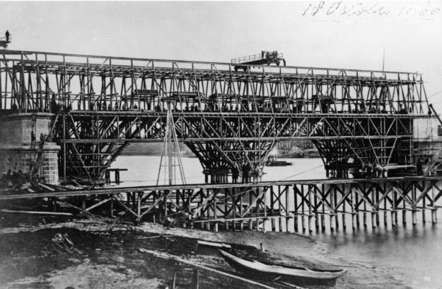 Lekbrug Culemborg in aanbouw
