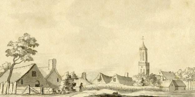 Het dorp Houten in het gerecht 't Goy en Houten