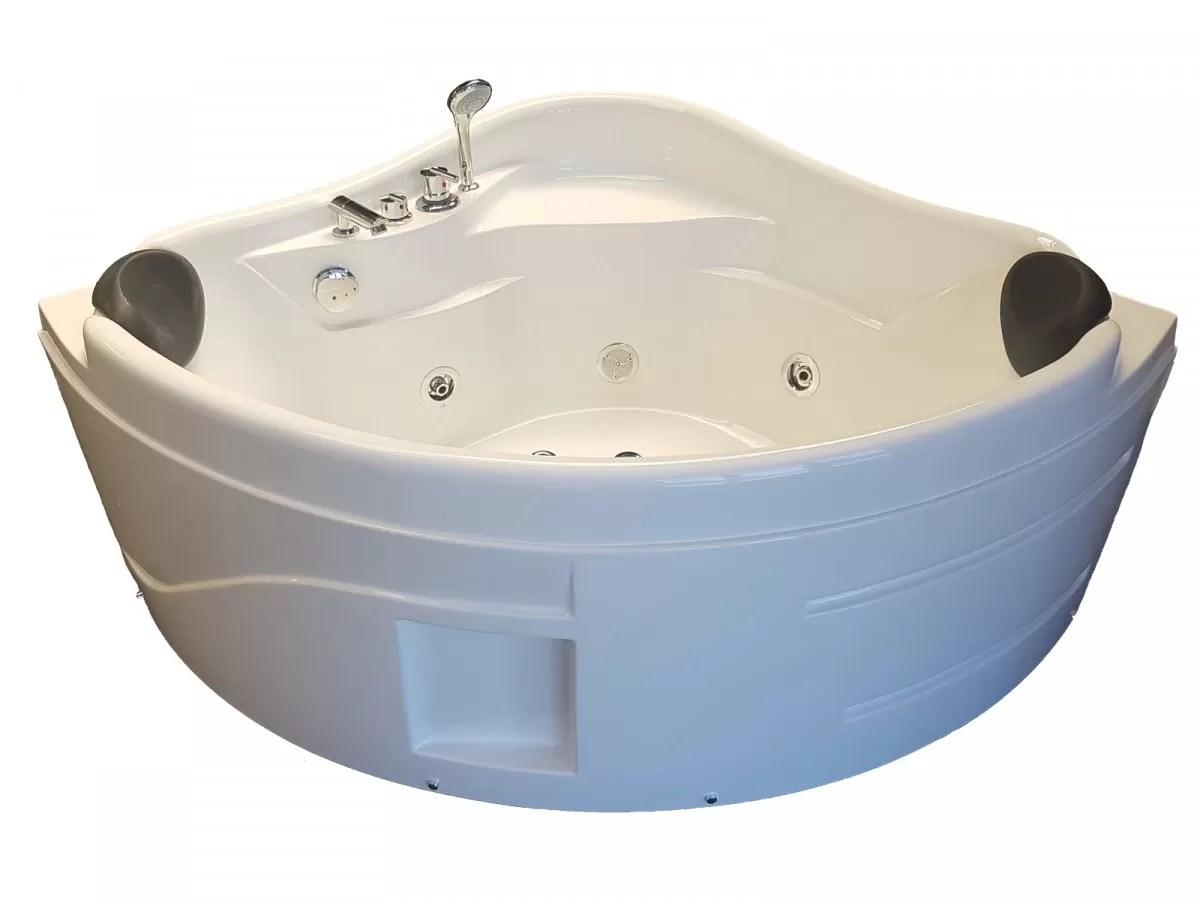 baignoire balneo d angle 130 x 130 hydromassante blanche