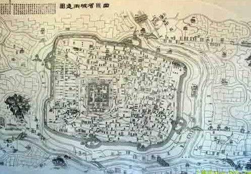Historical map of Chengdu