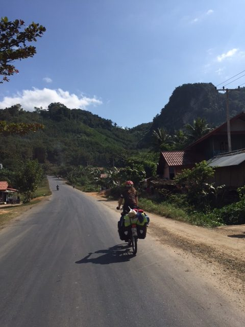 Up and down through the karst hills