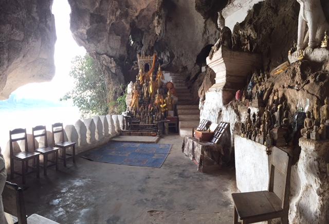 Tham Ting cave at Pak Ou