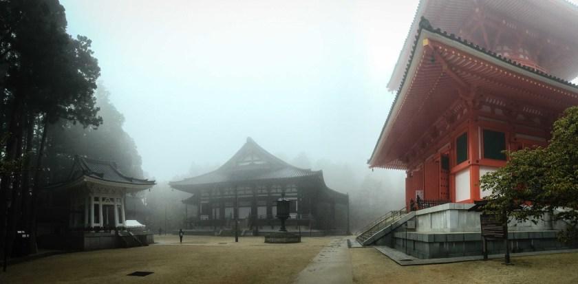 Kōya-san temples in the mist