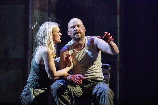 Anne-Marie-Duff-as-Lady-Macbeth-and-Rory-Kinnear-as-Macbeth-in Macbeth Royal National Theatre London