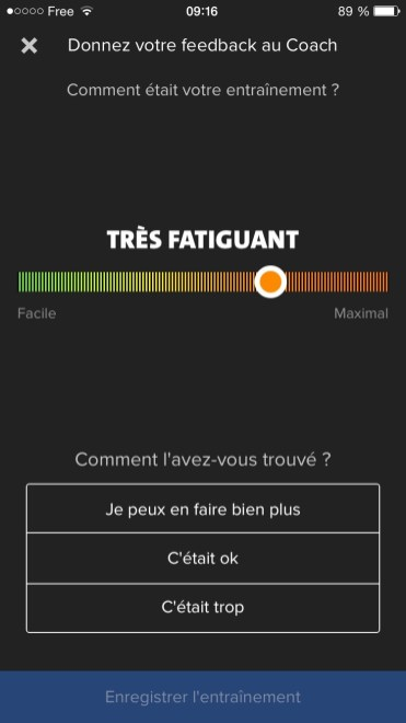 Feedback Coach : Très Fatiguant