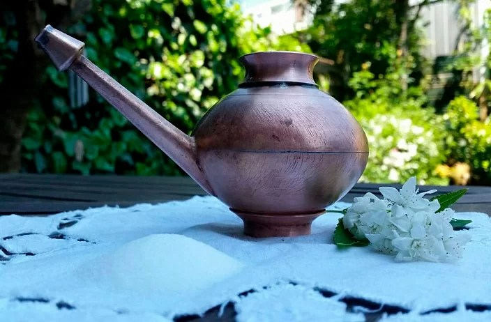 Neti Pot for cleansing the nose in yoga, cleansing the sinuses