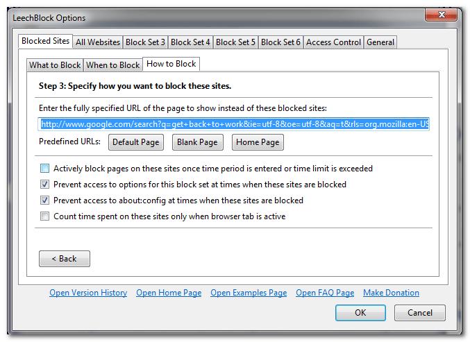 Дополнение LeechBlock