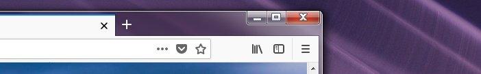 Кнопки нового интерфейса Firefox