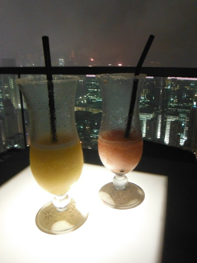 Cocktails on the balcony