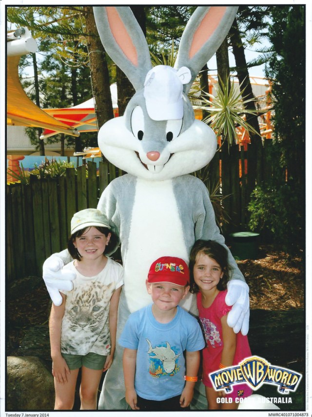 Bugs Bunny with Keira's hat on