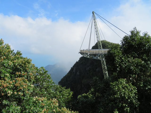 View of the SkyBridge from our gondola