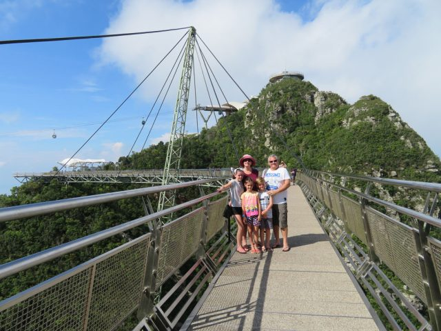 Family photo on the Sky Bridge