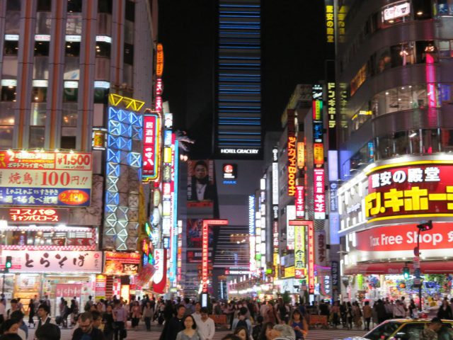 Exactly what you expect to see in Tokyo! Neon for miles!