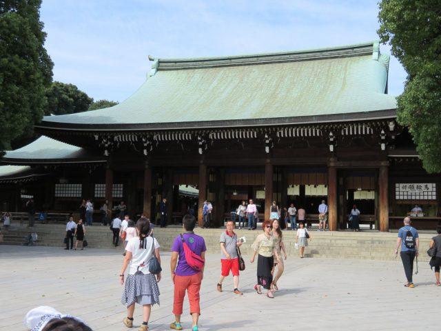 Meiji Shrine, not the most elaborate Shrine although still beautiful