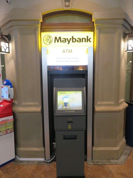 KidZania ATM sponsored by Maybank