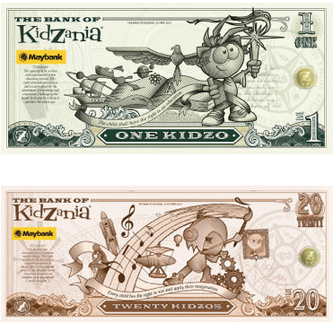 KidZo currency Source: www.kidzania.com.sg