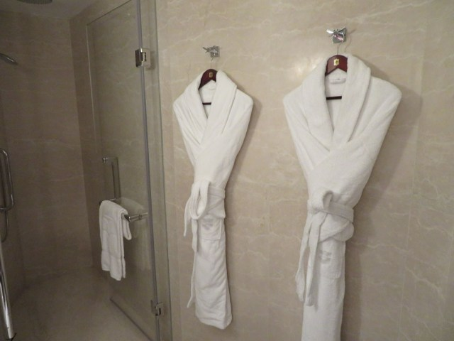 Shangri La bath robes
