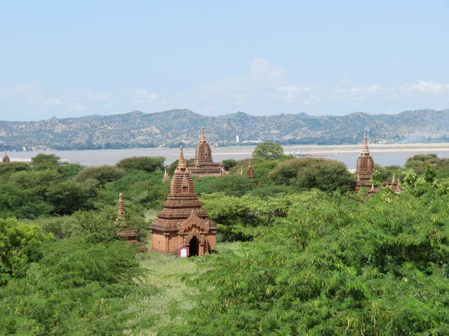 Bagan temples with kids