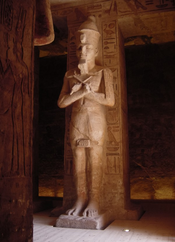Inside the great temple at Abu Simbel