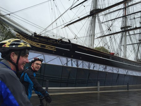 Meeting up with Brian & Tony at the Cutty Sark