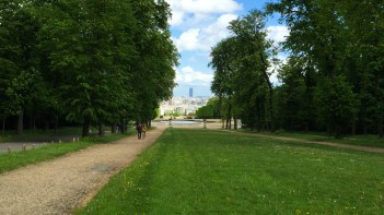 Our first glimpse of Paris from Parc de Saint-Cloud.