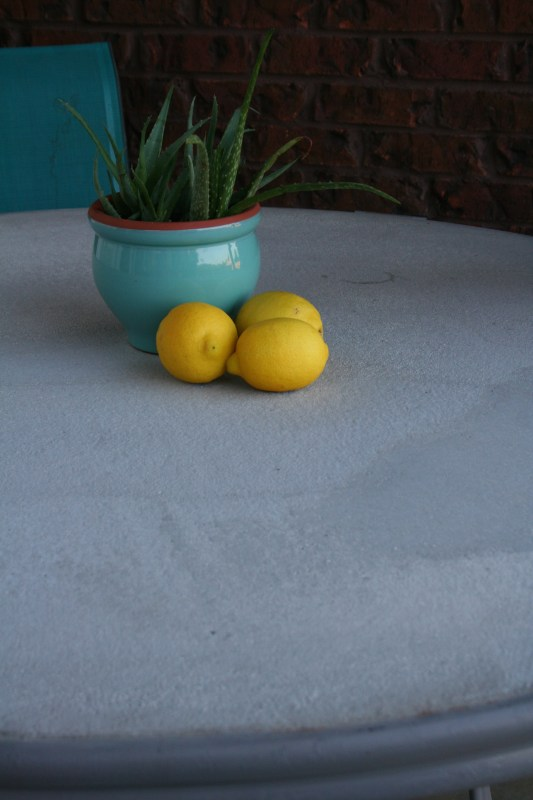 DIY Concrete TableTop @OurAlabamaLife.com