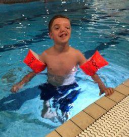 birthday weekend in Nottingham - Harry in the pool