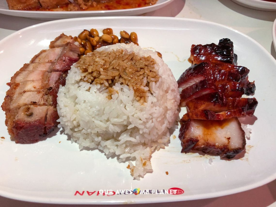 Char Siew with Roasted Pork Platter Rice (₱ )