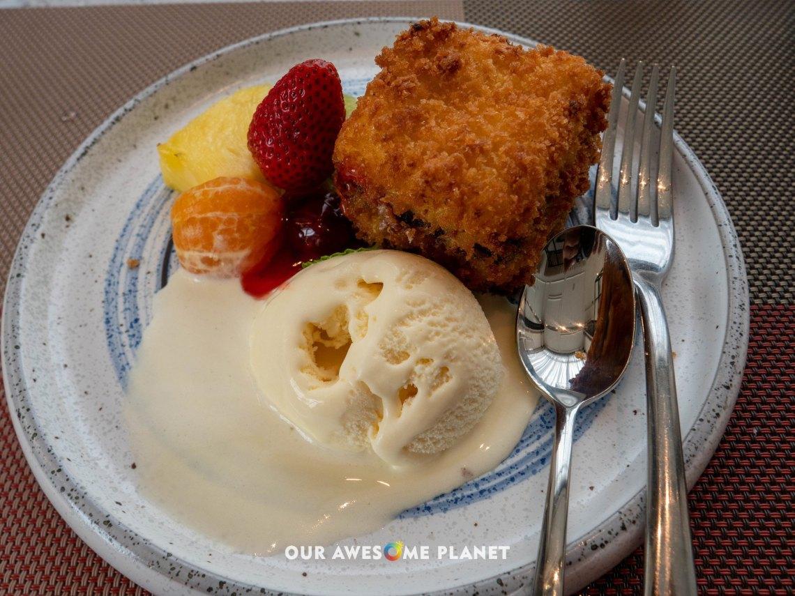 Deep-fried Mango Cheesecake