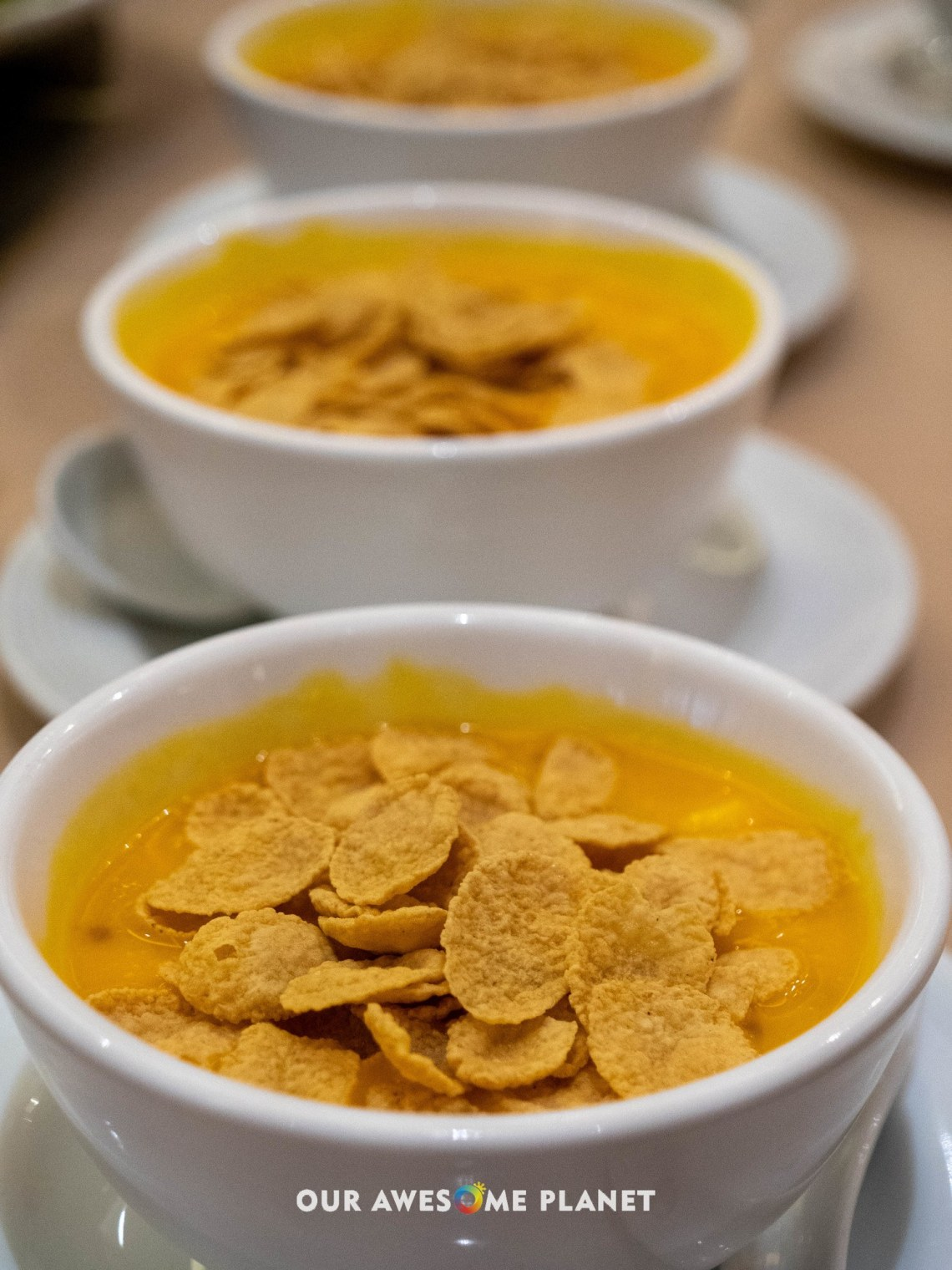 Chilled Cream of Mango Sago with Cereals