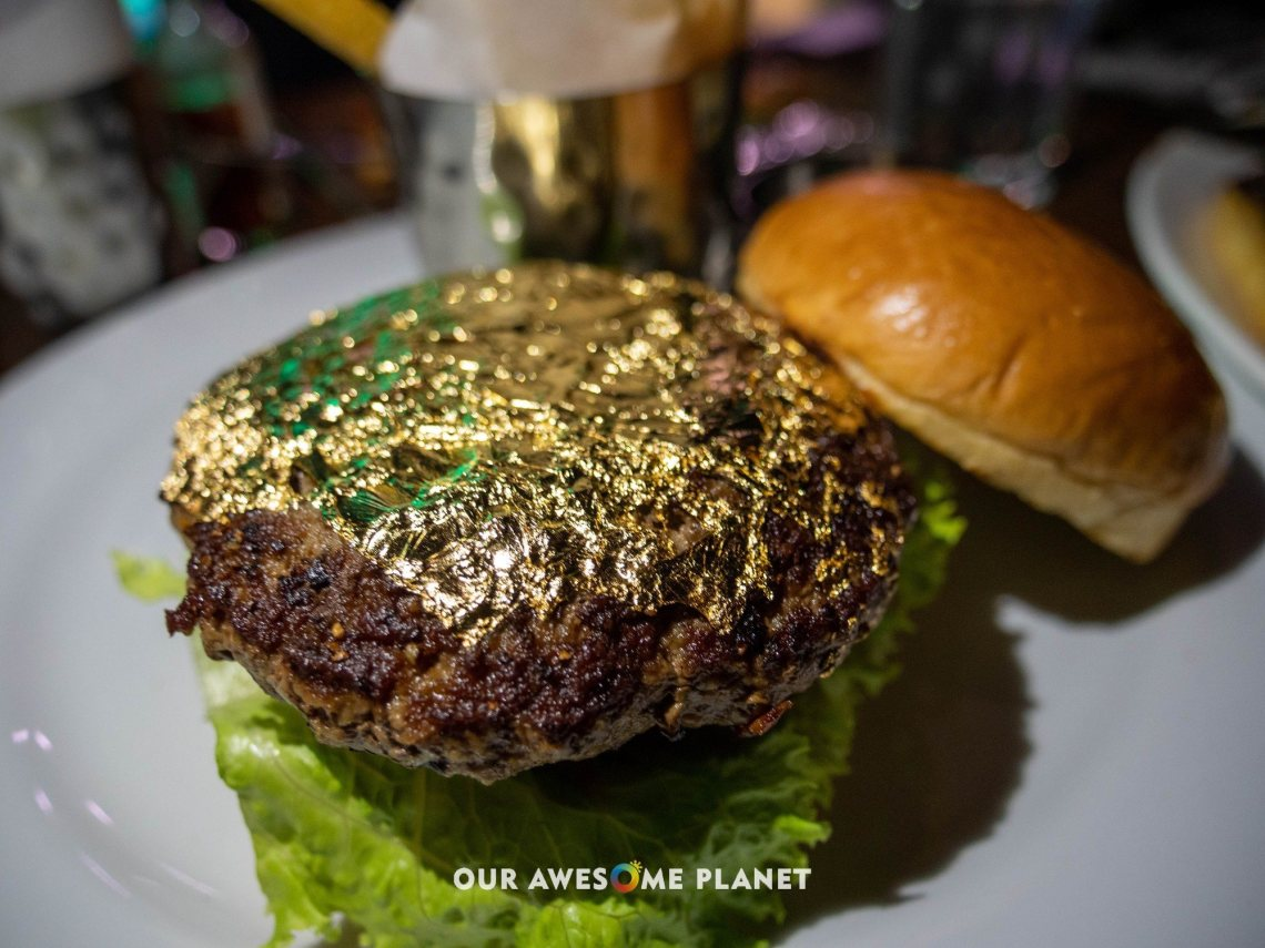 24-Karat Gold Leaf Burger