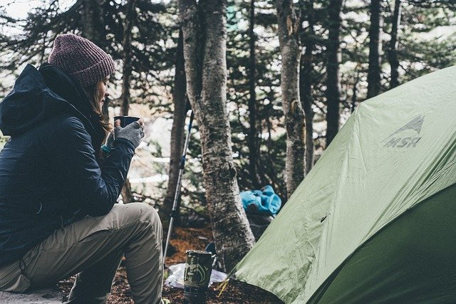 warm camping clothes